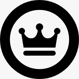 丸枠の中に王冠を配したフリーアイコンその2 しのべば 体感型オンラインサービス検索サイト
